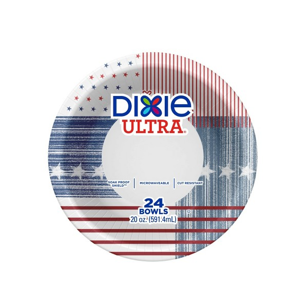 Dixie Ultra Eclectic Stars Paper Bowls - 24ct/20oz