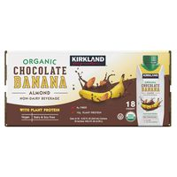 Kirkland Signature Organic Chocolate Almond Banana Protein Beverage, 18 x 8.25 oz