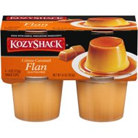 Kozy Shack Gluten-Free Crème Caramel Flan Snack Cup, 4 Oz., 4 Count