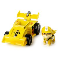 PAW Patrol, Ready, Race, Rescue Rubble's Race & Go Deluxe Vehicle with Sounds, for Kids Aged 3 and Up