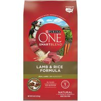 Purina ONE Natural Dry Dog Food, SmartBlend Lamb & Rice Formula