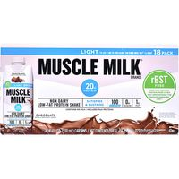 Muscle Milk Light Protein Shake Chocolate, 18 x 11 fl oz