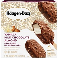 Haagen-Dazs Vanilla Milk Chocolate Almond Frozen Bars - 11.1 fl oz