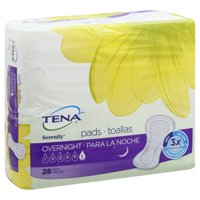 TENA Intimates Overnight Incontinence Pad for women, Large, 28 Ct