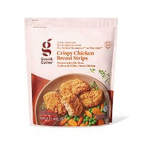 Crispy Frozen Chicken Breast Strips - 25oz - Good & Gather™
