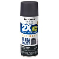 Rust-Oleum American Accents 2X Ultra Cover Ultra Matte Slate Spray Paint and Primer in 1, 12 oz