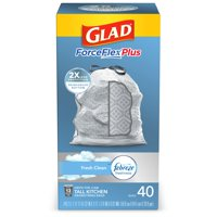 Glad Tall Kitchen Trash Bags, 13 Gallon, 40 Bags (ForceFlexPlus, Fresh Clean)