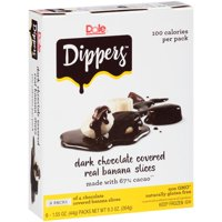Dole Dippers Dark Chocolate Covered Real Banana Slices, 1.55 oz, 6 count
