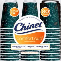 Chinet Holiday Comfort Cups, 80 ct