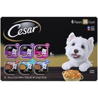 (36 Pack) CESAR Wet Dog Food HOME DELIGHTS & Classic Loaf in Sauce Variety Pack, 3.5 oz. Easy Peel Trays
