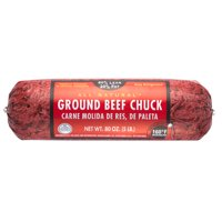 All Natural* 80% Lean/20% Fat Ground Beef Chuck Roll, 5 lb