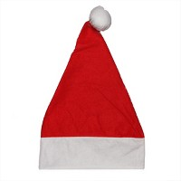 Northlight Red and White Traditional Unisex Adult Christmas Santa Hat Costume Accessory - One Size