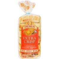 Oroweat Extra Crisp English Muffins, 6 count, 12.5 oz