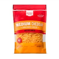Shredded Medium Cheddar Cheese - 8oz - Market Pantry™