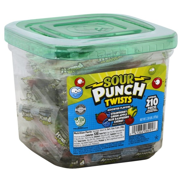 Sour Punch Candy, Assorted Flavors