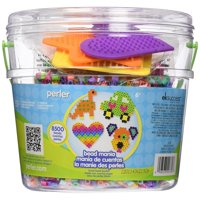 Perler Bead Bucket Jar: Bead Mania, 8500 Beads and 3 Pegboards