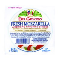 BelGioioso Fresh Mozzarella Cheese Ball, Slice for Snacking & Baking, Specialty Cheese, 8 Ounces