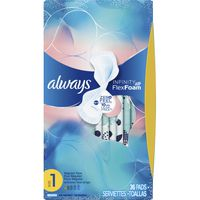 Always Infinity Size 1, Regular Sanitary Pads with Wings, Unscented