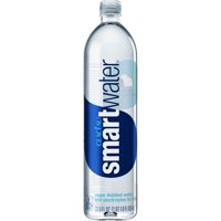 Glaceau Smartwater Vapor Distilled Water with Electrolytes, 33.8 Fl. Oz.