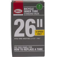 Bell Standard Schrader Replacement Bicycle Inner Tube, 26' x 1.375'