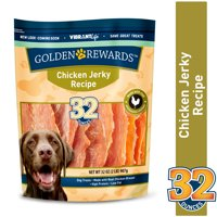 Golden Rewards Jerky Recipe Dog Treats, Chicken, 32 oz