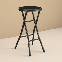 Mainstays Folding Metal Stool, Black
