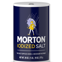 Morton Iodized Table Salt, All-Purpose Iodized Salt for Cooking, Seasoning, and Baking, 26 OZ Canister