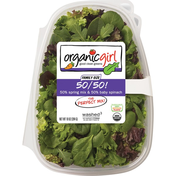 Spring Mix & Baby Spinach, 50/50!, Family Size