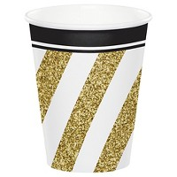 8ct Black & Gold Cups