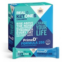 Real Ketones BHB and MCT Creamer PrimeD+ Exogenous Ketone Sticks - French Vanilla - 16ct