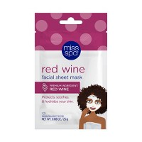 Miss Spa Red Wine Face Mask - 0.88oz