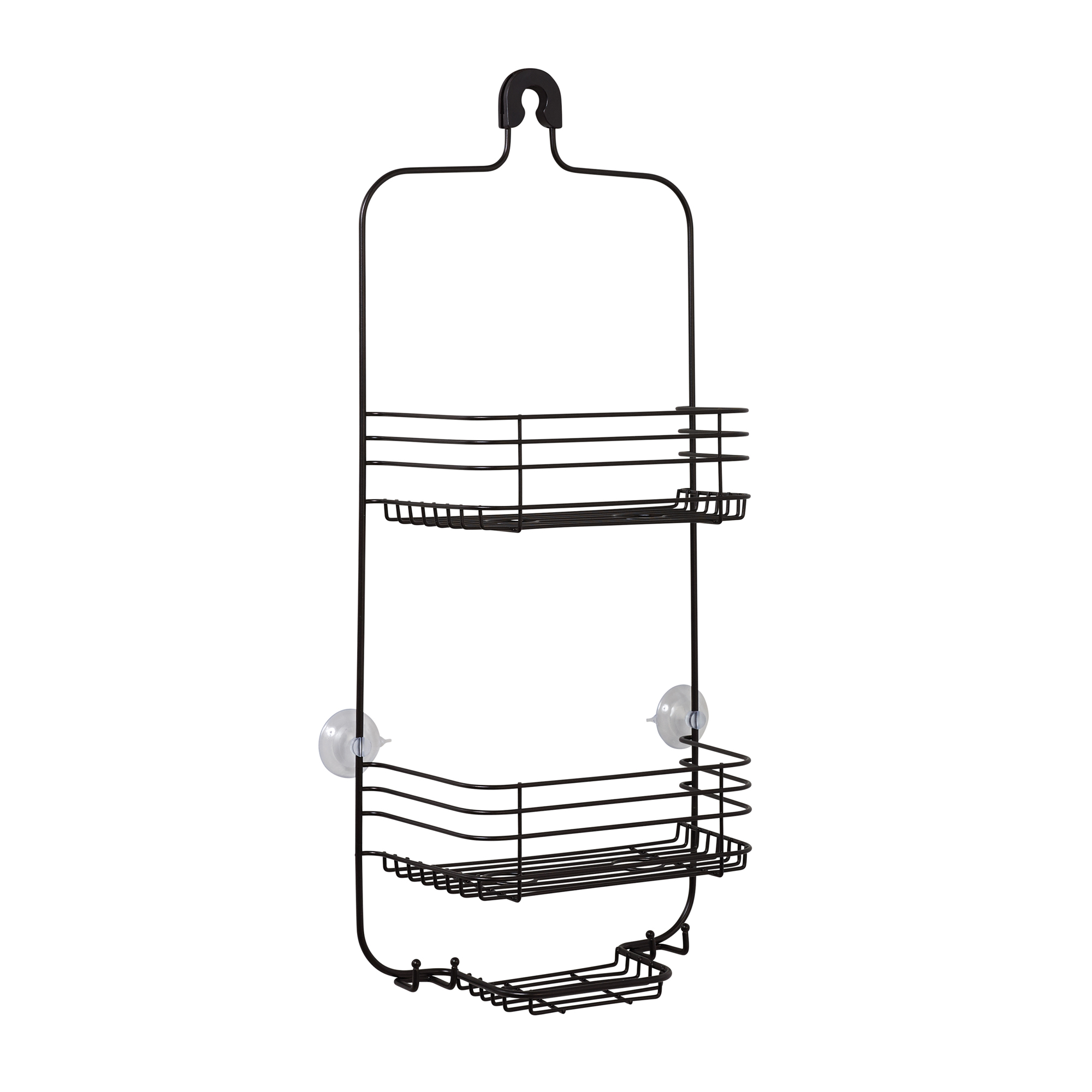 Mainstays Two Shelf Shower Caddy with Hold-Tight Grip, Oil-Rubbed Bronze