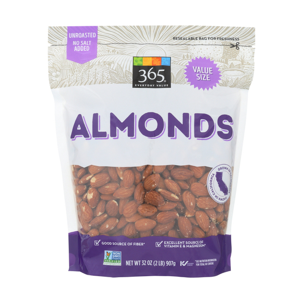 365 everyday value® Unroasted & Unsalted Almonds, 32 oz