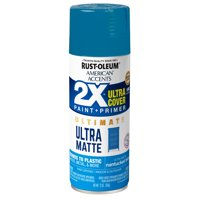 Rust-Oleum American Accents 2X Ultra Cover Ultra Matte Nantucket Blue Spray Paint and Primer in 1, 12 oz