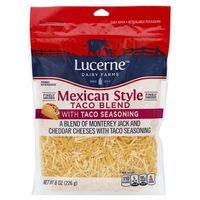 Lucerne Dairy Farms Mexican Style Taco Blend With Taco Seasoning