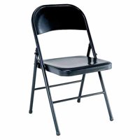 Mainstays Steel Folding Chair, Black