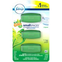 Febreze Small Spaces Air Freshener Refills with Gain Scent, Original, 3 count