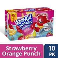 Kool-Aid Jammers Strawberry Orange Punch Flavored Drink, 10 ct - Pouches, 60.0 fl oz Box