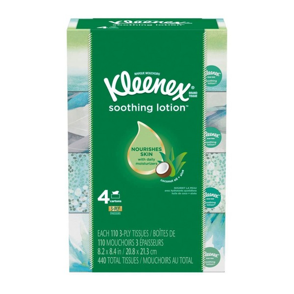 Kleenex Soothing Lotion Facial Tissue - 440ct
