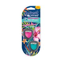 Refresh Your Car! Mini Diffuser P Flower & Neon, 2 Pack
