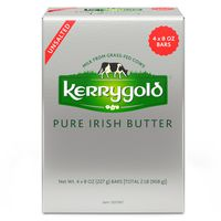 Kerrygold Unsalted Irish Butter, 4 x 8 oz
