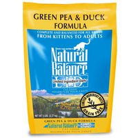 Natural Balance Limited Ingredient Diets Grain Free Green Pea & Duck Formula Complete And Balanced Adult Cat Food For All Breeds
