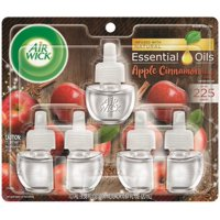 Air Wick plug in Scented Oil Refill, Apple Cinnamon Medley, 5ct, Air Freshener, Essential Oils