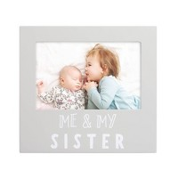 "Pearhead Sentiment Me And My Sister Frame 4"" x 6"" Gray"