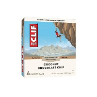 CLIF Bar Coconut Chocolate Chip Energy Bars - 6ct