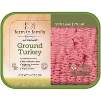 Farm to Family by Butterball No Antibiotics Ever 93/7 Ground Turkey - 1lb