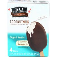 So Delicious Dairy Free Coconutmilk No Sugar Added Dipped Vanilla Bars