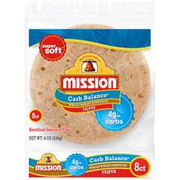 Mission Carb Balance Whole Wheat Fajita Tortillas