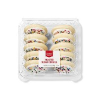 White Frosted Sugar Cookies  - 10ct - Market Pantry™