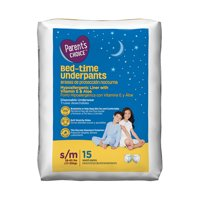 Parent's Choice Bed-Time Pull Up Underpants, S/M, 15 Count